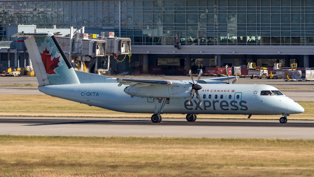 Bombardier De Havilland Canada DHC 8 301 C GKTA Air Canada Express at Vancouver International Airport