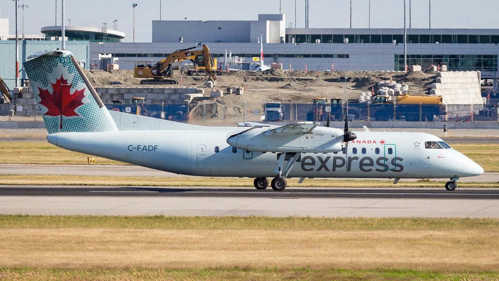 Bombardier De Havilland Canada DHC 8 311 C FADF Air Canada Express at Vancouver International Airport