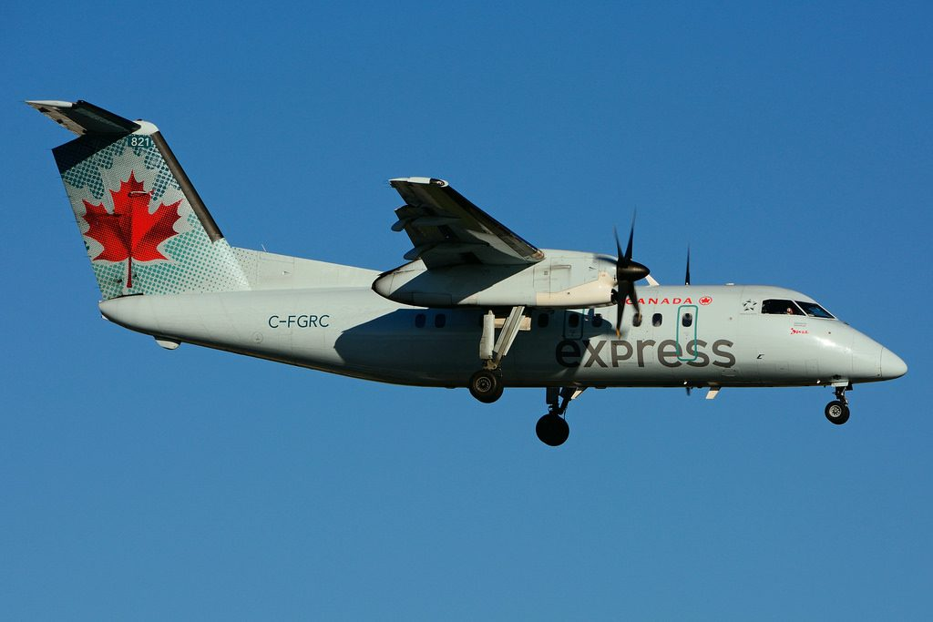 Bombardier de Havilland Canada DHC 8 102 Dash 8 C FGRC Air Canada express operated by JAZZ Aviation Turboprop Aircraft