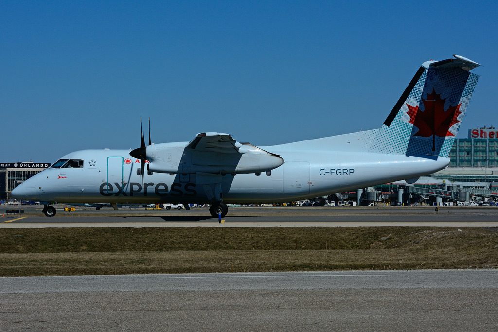 Bombardier de Havilland Canada DHC 8 102 Dash 8 C FGRP Air Canada Express operated by JAZZ Aviation at Toronto Lester B. Pearson Airport YYZ