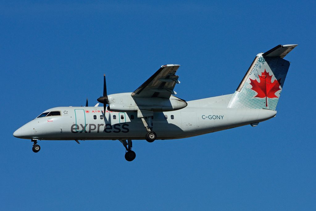 Bombardier de Havilland Canada DHC 8 102 Dash 8 C GONY Air Canada express operated by Jazz Aviation