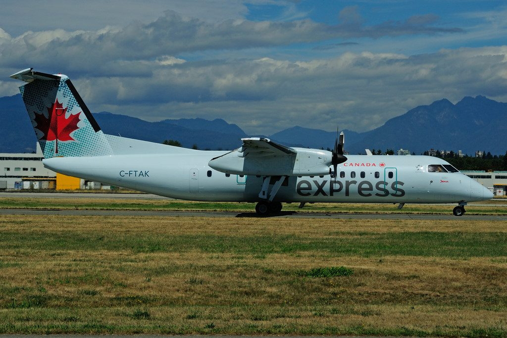 Bombardier de Havilland Canada DHC 8 311 C FTAK Air Canada express operated by JAZZ at Vancouver International Airport YVR