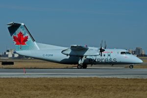 C FGRM Bombardier de Havilland Canada DHC 8 102 Dash 8 Air Canada Express operated by JAZZ at Toronto Lester B. Pearson Airport YYZ