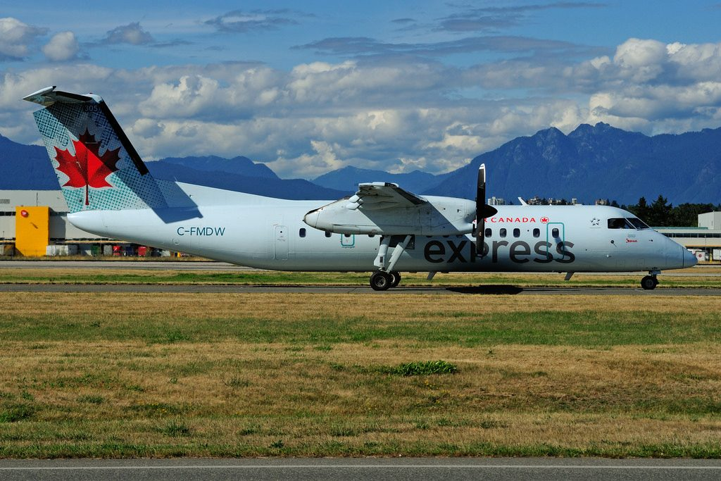 C FMDW deHavilland Canada DHC 8 311 Dash 8 Air Canada express operated by JAZZ at Vancouver International Airport YVR