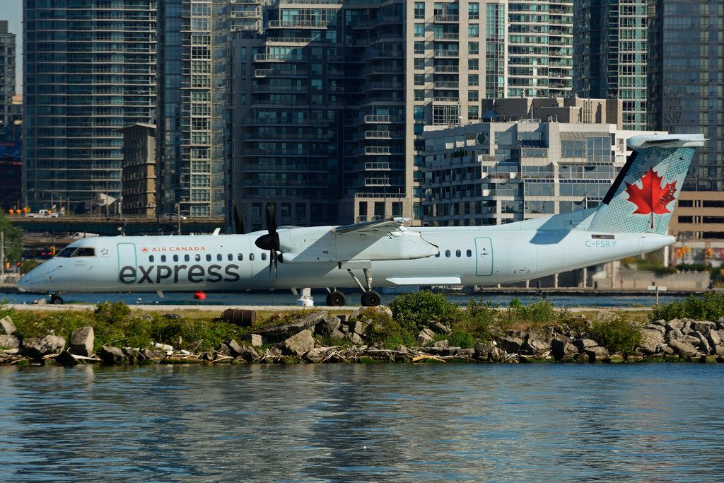 C FSRY Bombardier DHC 8Q 402 Air Canada express operated by Sky Regional Airlines at Toronto City Centre Airport YTZ