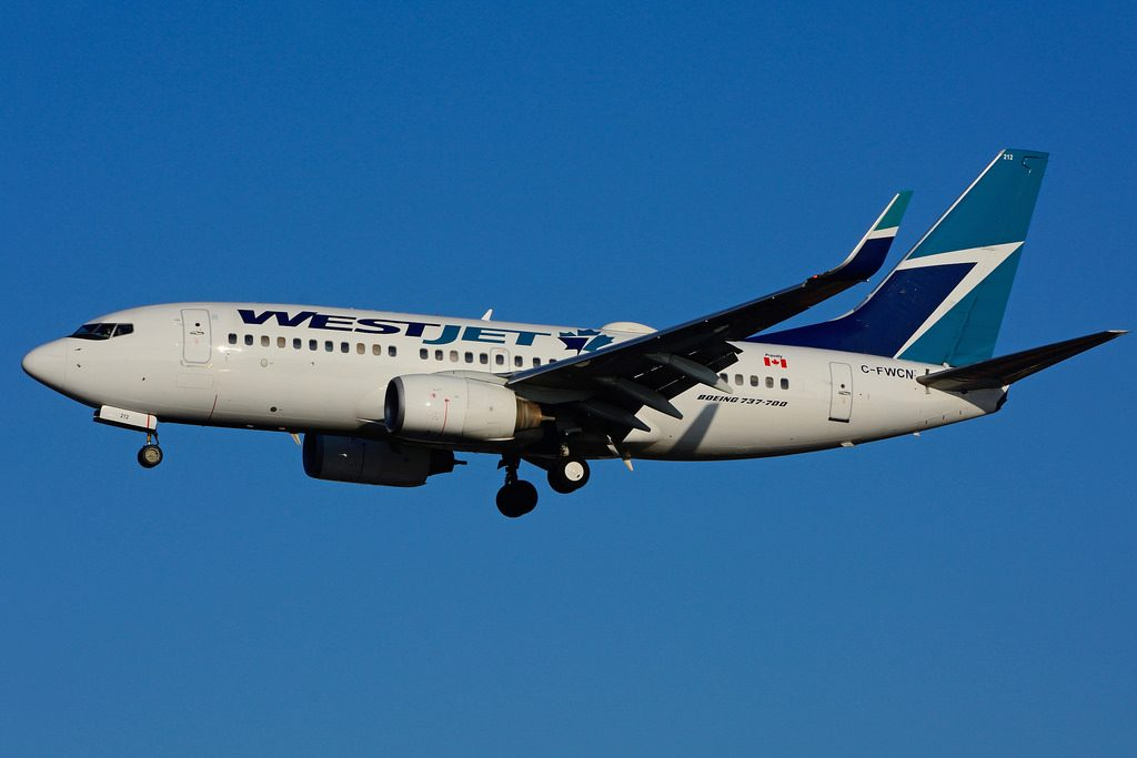 C FWCN Boeing B 737 7CTW WestJet at Toronto Lester B. Pearson Airport YYZ