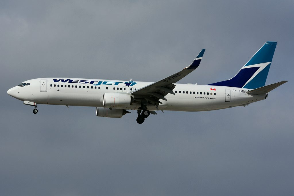 C FXMS Boeing B 737 8CT WestJet at Toronto Lester B. Pearson Airport YYZ