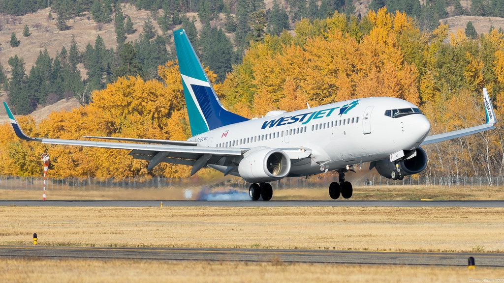 C GCWJ Westjet Boeing 737 7CT aircraft takeoff and landing photos