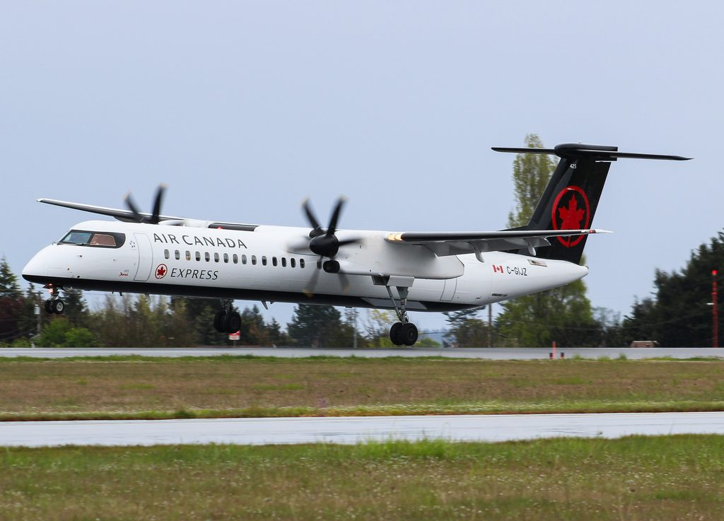 C GIJZ Air Canada Express Jazz Bombardier Q400 at Victoria International Airport YYJ