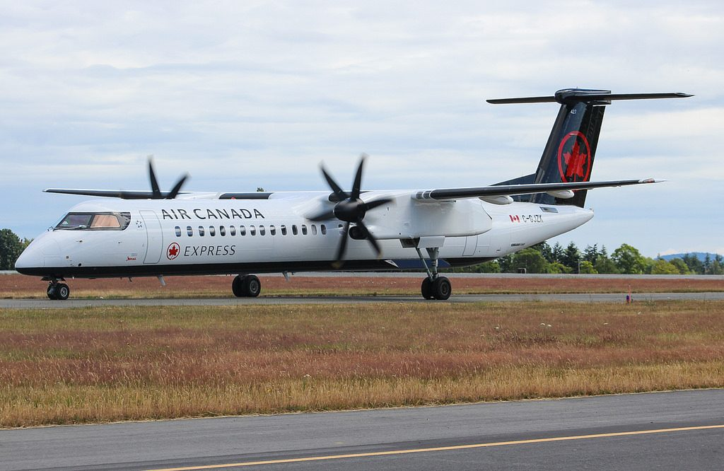 C GJZK Air Canada Express Jazz Bombardier Q400 at Victoria International Airport YYJ