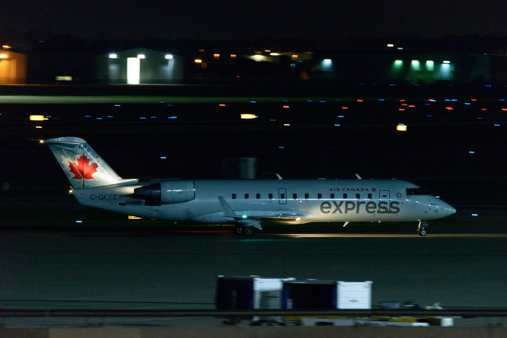 C GKEZ Air Canada Express Bombardier Canadair CRJ 200LR at Indianapolis International Airport