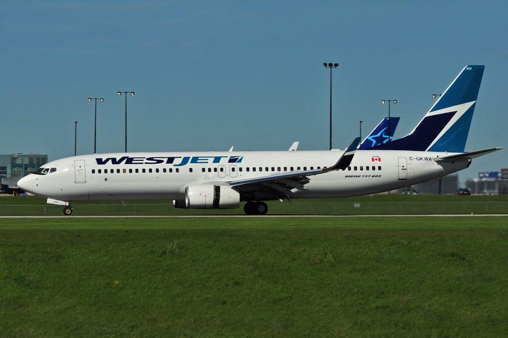 C GKWA Boeing B737 8CTW WestJet at Toronto Lester B. Pearson Airport YYZ