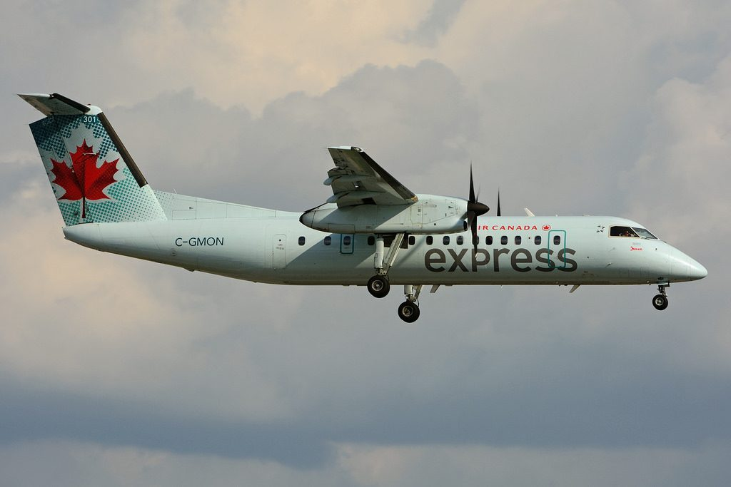 C GMON de Havilland Canada DHC 8 301 Dash 8 Air Canada express operated by JAZZ at Toronto Lester B. Pearson Airport YYZ