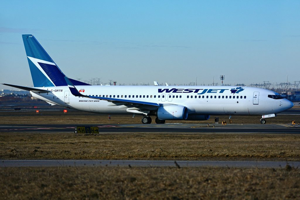C GRTB Boeing B 737 8CT WestJet at Toronto Lester B. Pearson Airport YYZ