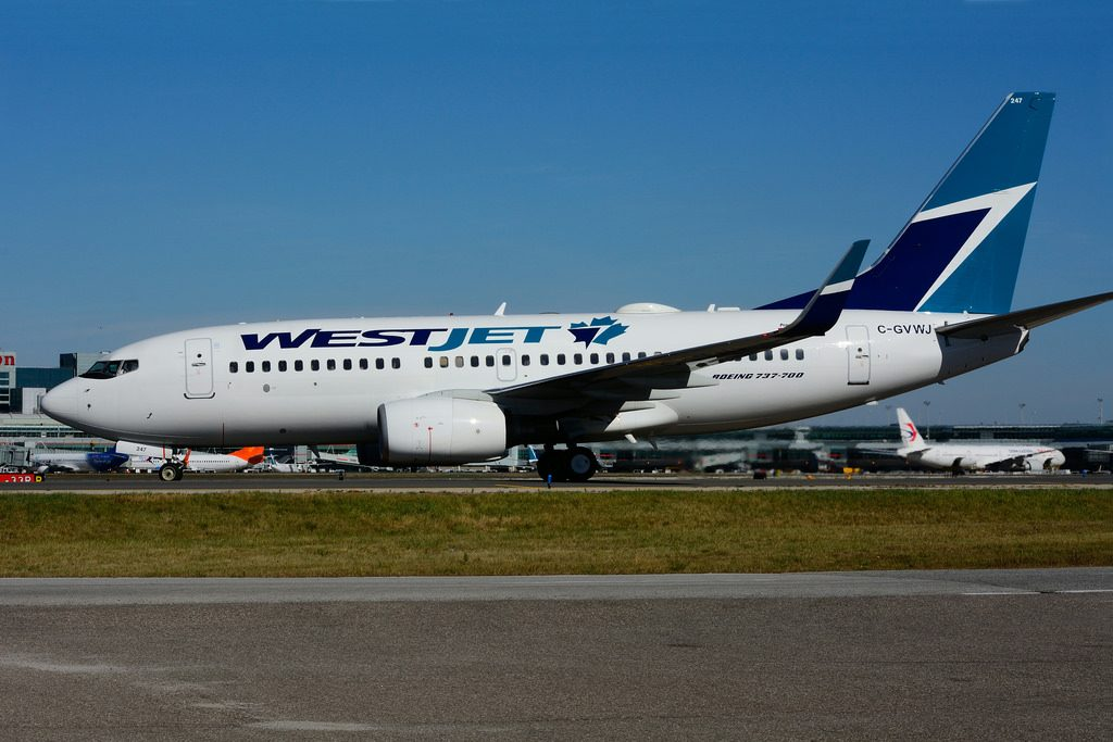 C GVWJ BoeingB 737 7CTW WestJet at Toronto Lester B. Pearson Airport YYZ