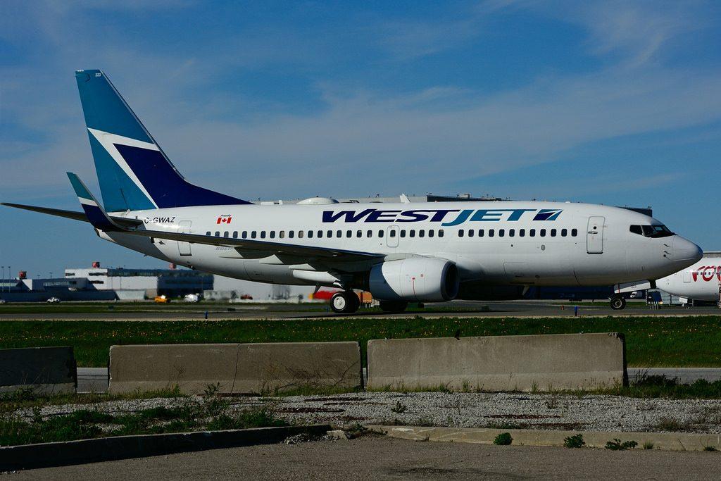 C GWAZ Boeing B 737 7CTW WestJet at Toronto Lester B. Pearson Airport YYZ