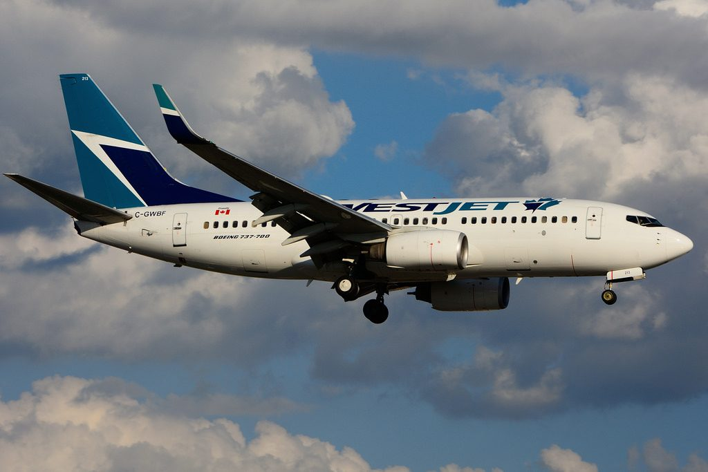 C GWBF Boeing B737 7CTW WestJet leased from CIT Leasing at Toronto Lester B. Pearson Airport YYZ