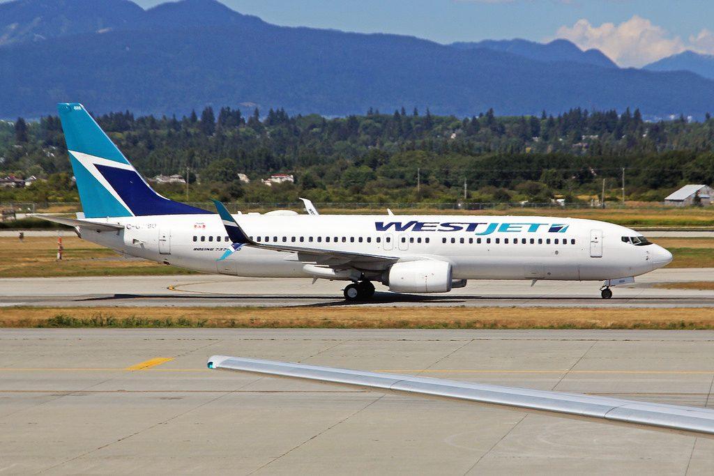 C GWBU Boeing 737 8CTSW WestJet Airlines YVR