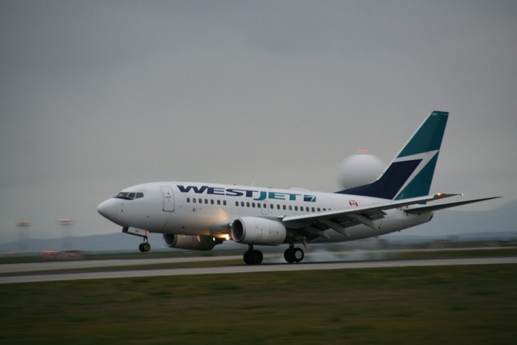 C GWCT Boeing 737 6CT WestJet Built 2006 Flight WS101 from Calgary YYC
