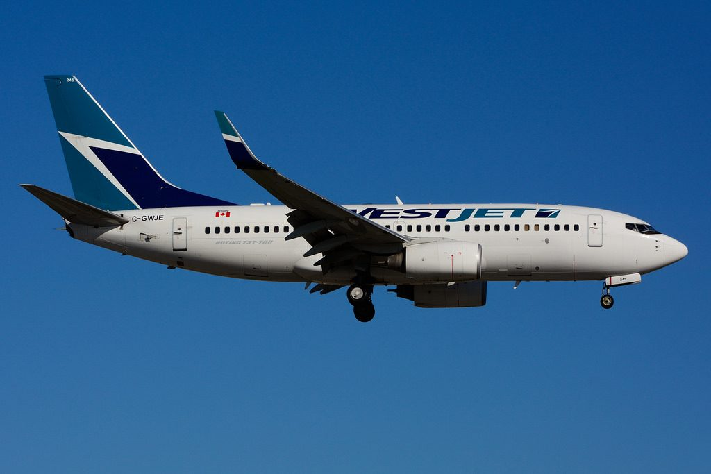 C GWJE Boeing B 737 7CTW Westjet leased from BOC Aviation at Toronto Lester B. Pearson Airport YYZ