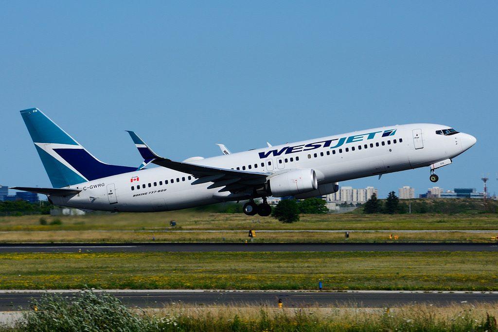 C GWRG Boeing B737 8CTSW WestJet at Toronto Lester B. Pearson Airport YYZ
