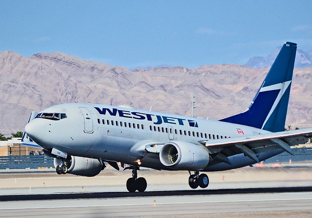 C GWSQ WestJet Boeing 737 7CT at Las Vegas McCarran International Airport LAS KLAS
