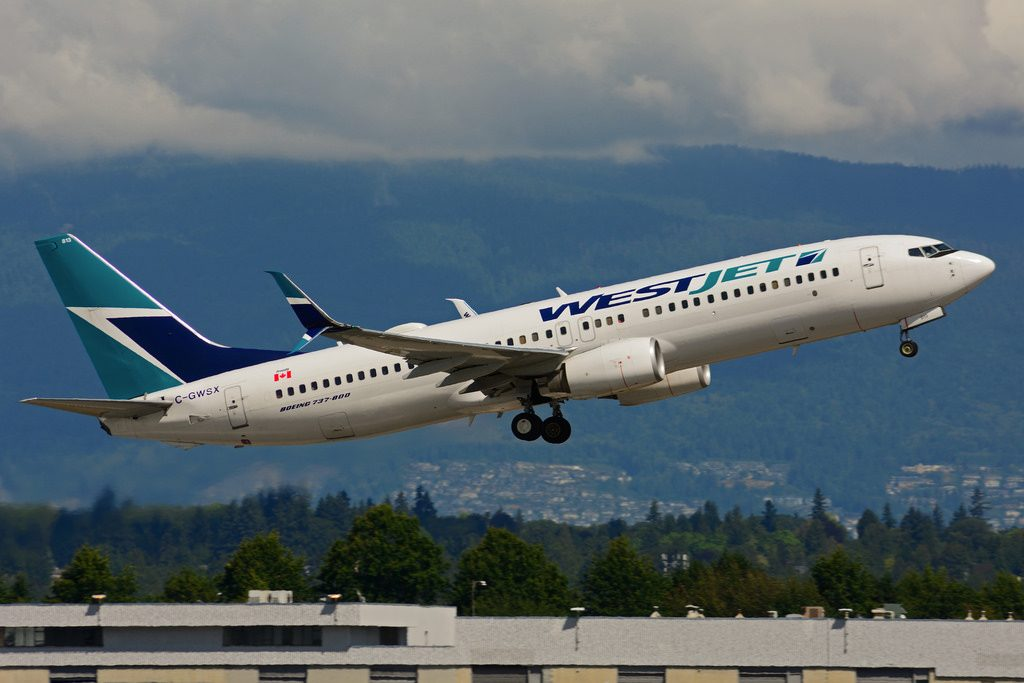 C GWSX Boeing B737 8CTSW WestJet at Vancouver International Airport YVR