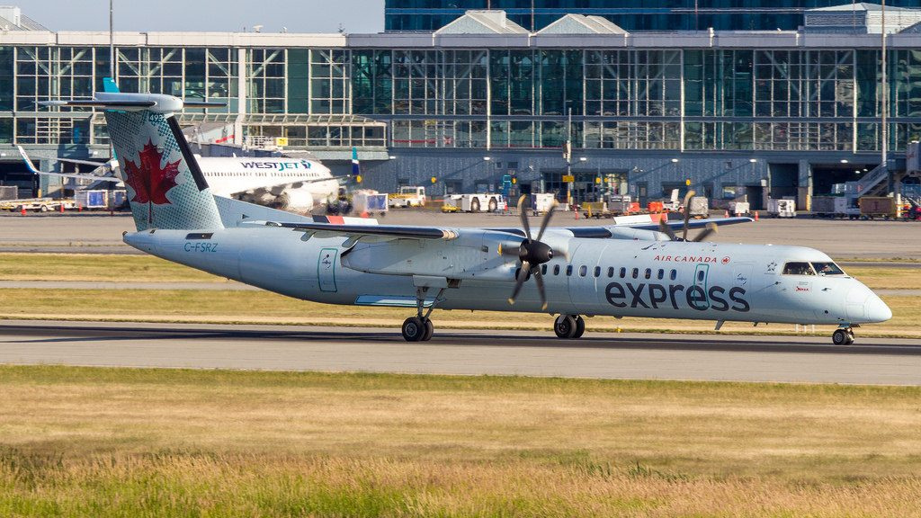 De Havilland Canada DHC 8 402Q C FSRZ Air Canada Express at Vancouver International Airport