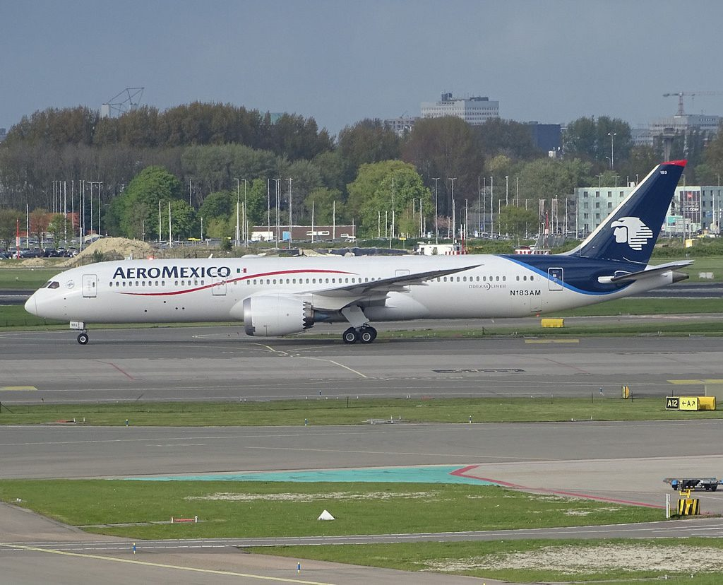 N183AM Boeing 787 9 Dreamliner Aeromexico at Schiphol Airport Amsterdam
