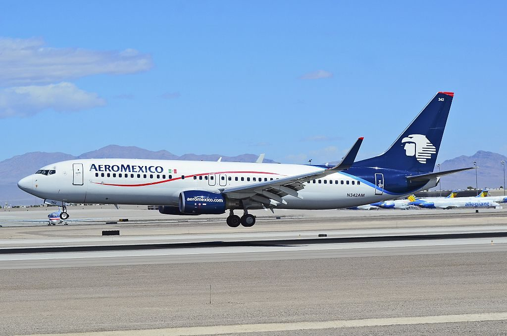N342AM Aeroméxico Boeing 737 8Z9WL cn 34262 at Las Vegas McCarran International