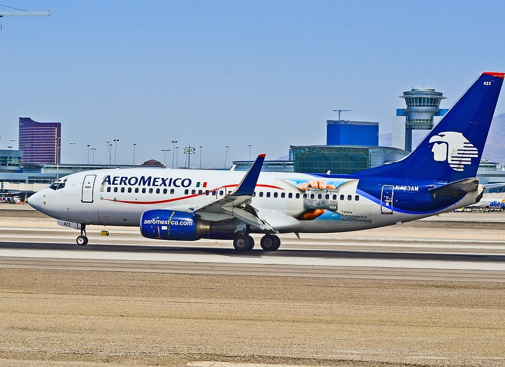 N423AM AeroMexico Boeing 737 73V cn 32423 1433 at Las Vegas McCarran International