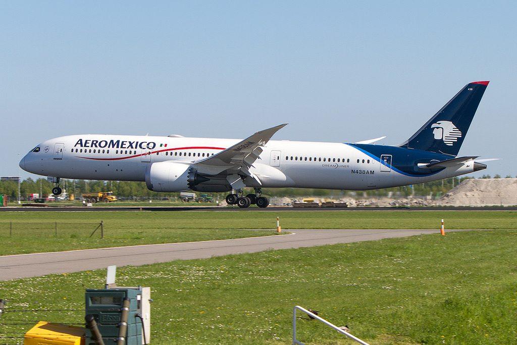 N438AM Boeing 787 9 dreamliner Aeromexico at Amsterdam Schiphol AMS EHAM