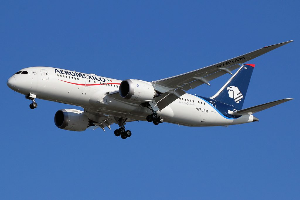 N783AM Boeing 787 8 Dreamliner AeroMexico on final approach at New York JFK