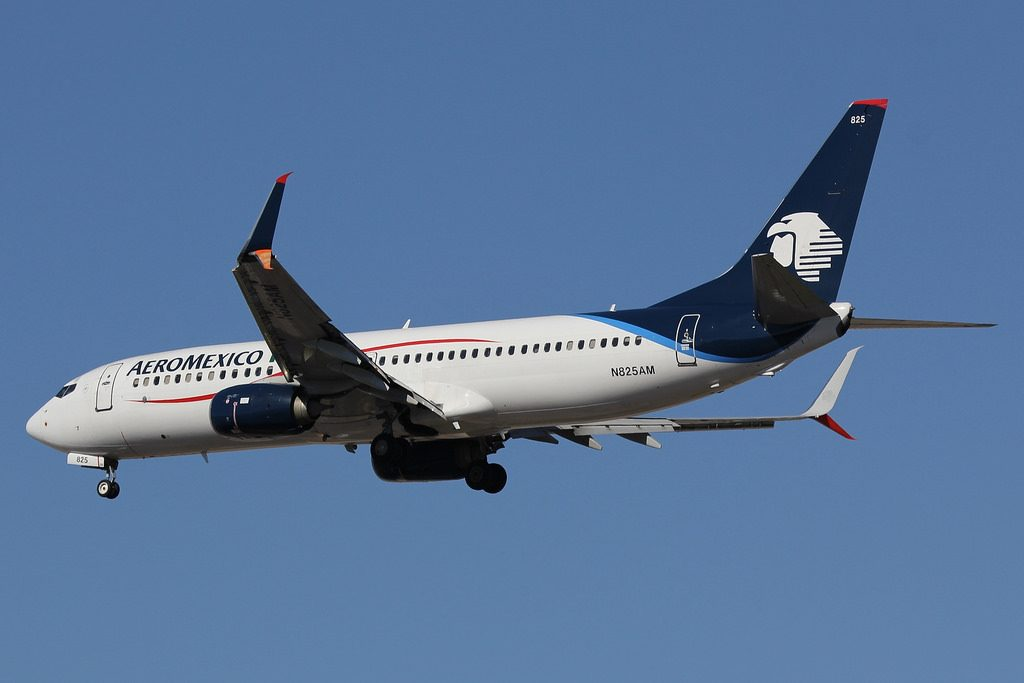 N825AM Aeromexico Aircraft Fleet Boeing B737 852 at LAS Airport