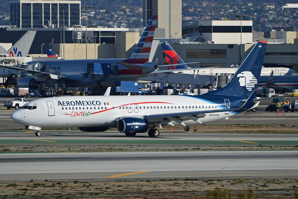N859AM BOEING 737 800 AEROMEXICO LAX AIRPORT EX EUROCYPRIA AS 5B DBU
