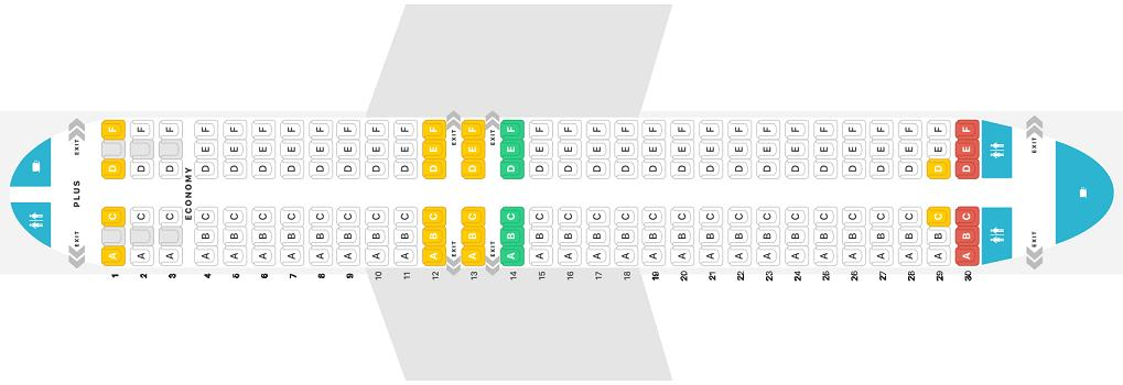 Seat Map and Seating Chart WestJet Boeing 737 Max 8