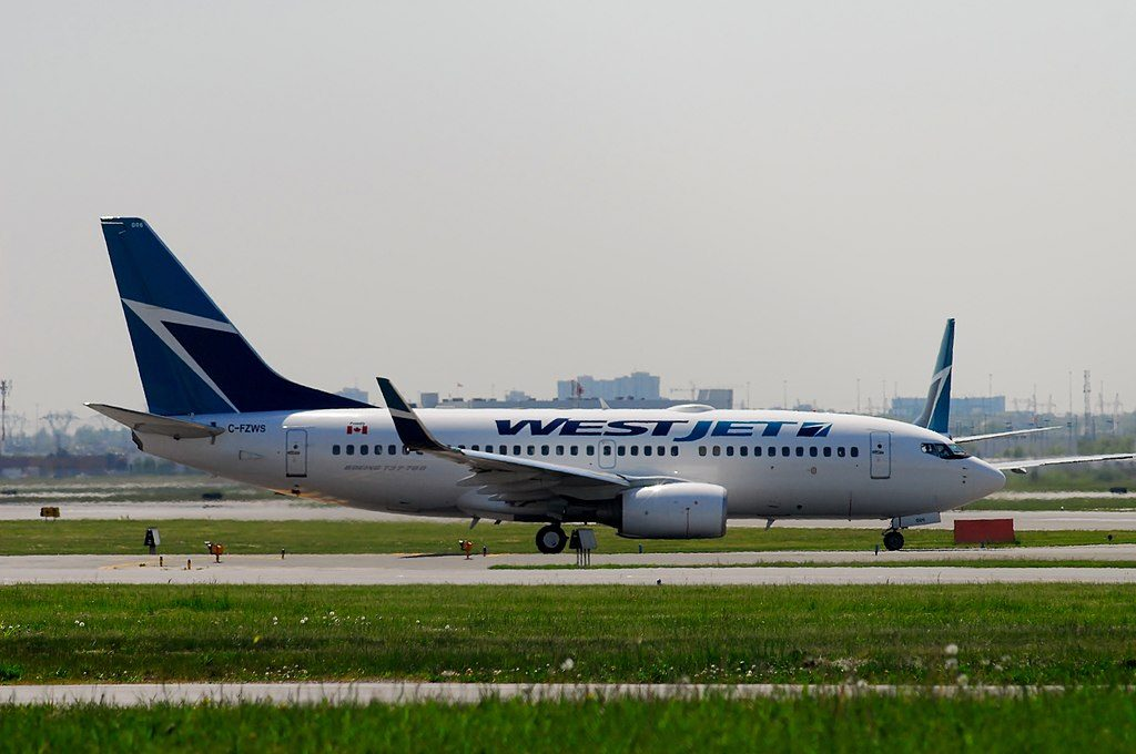 WestJet Boeing 737 76N C FZWS at Toronto Pearson Airport
