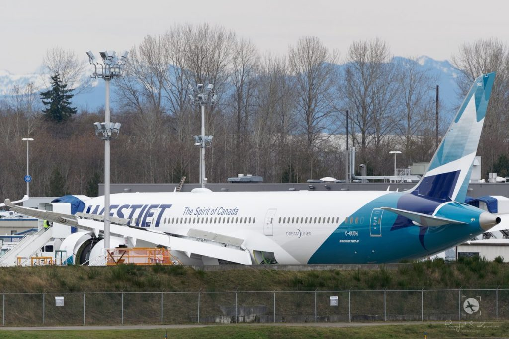 WestJet Boeing 787 9 Dreamliner C GUDH Aircraft Fleet on new livery colors Spirit of Canada Photos