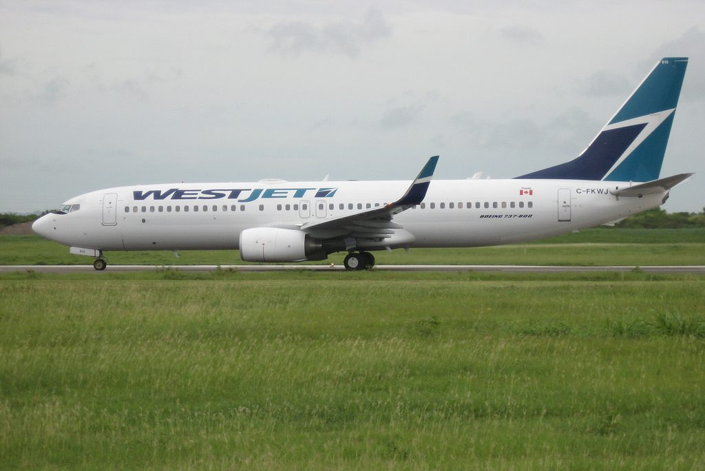 Westjet C FKWJ Boeing 737 800 at Grantly Adams International Airport