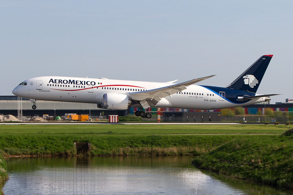 XA ADG Boeing 787 9 Dreamliner Guadalupe Aeromexico at AMS Schipol Airport
