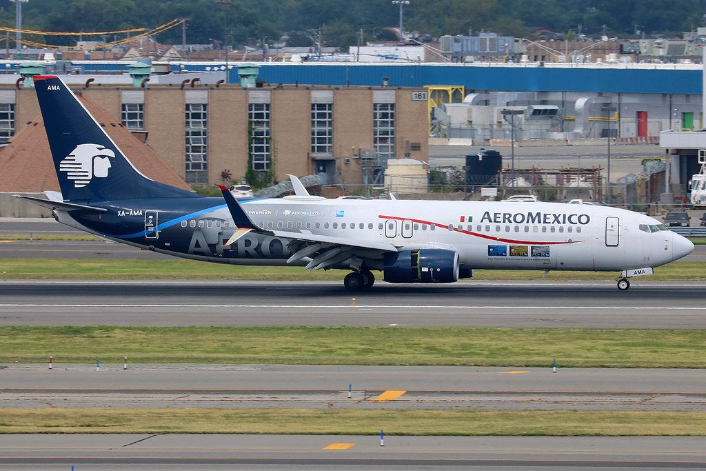 XA AMA Boeing 737 852W AeroMexico special American Express Club Premier livery at New York JFK