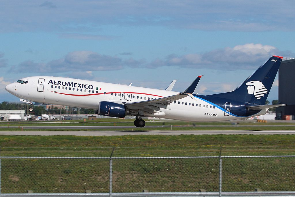 XA AMO Boeing 737 800 Aeromexico at Montreal Trudeau Airport