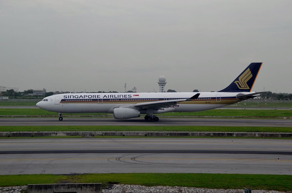 9V STV Airbus A330 300 of Singapore Airlines at Suvarnabhumi International Airport