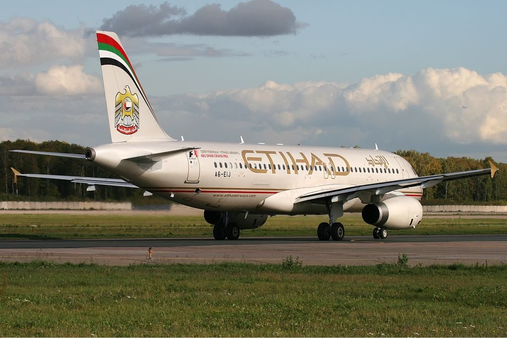A6 EIJ Airbus A320 200 of Etihad Airways at Domodedovo International Airport