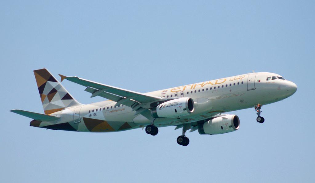 A6 EIL Etihad Airways Airbus A320 232 at Larnaca Airport