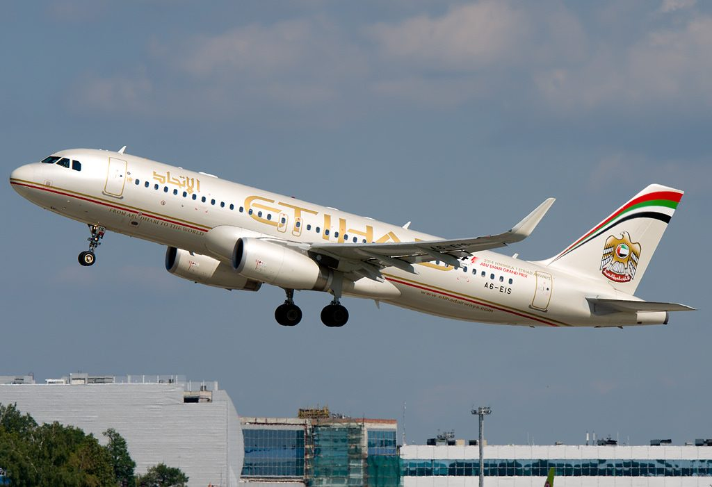 A6 EIS cn 5714 First A320 232 Sharklets for Etihad Airways at Domodedovo airport Moscow