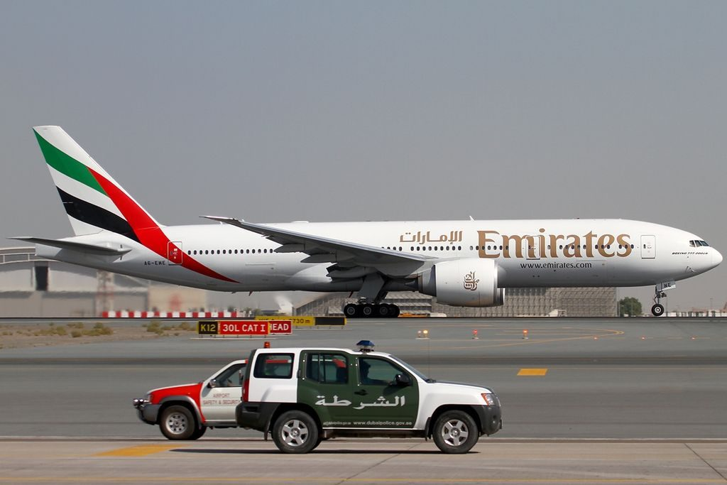 A6 EWE Emirates Boeing 777 21H LR at Dubai International DXB OMDB United Arab Emirates