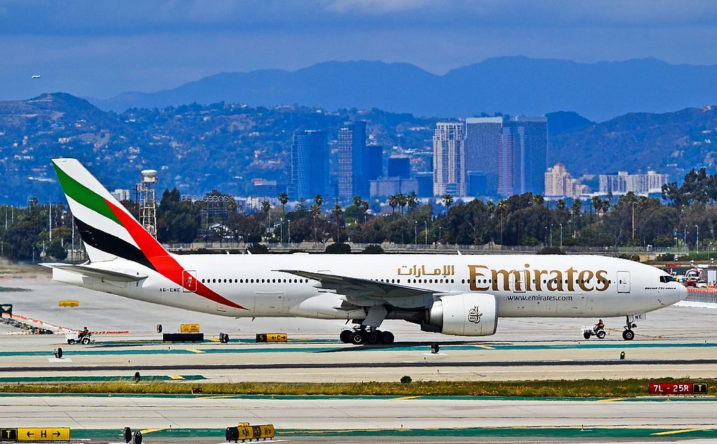 A6 EWE Emirates Boeing 777 21H LR at Los Angeles International Airport LAX