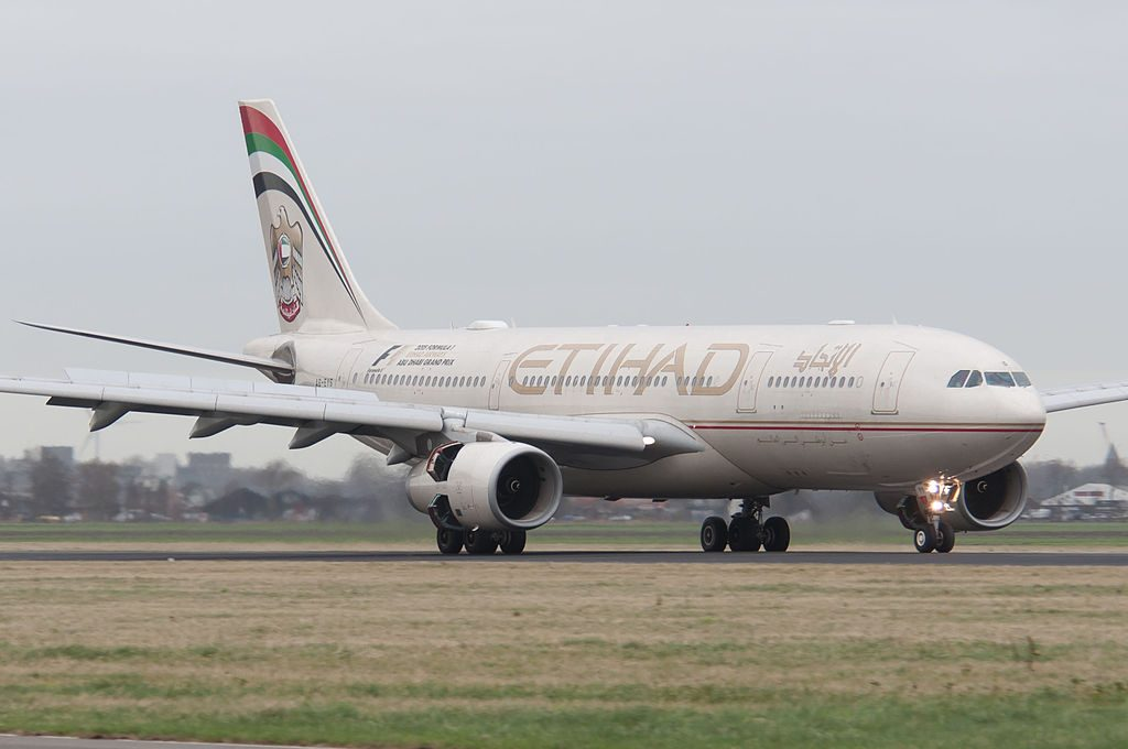 A6 EYS Airbus A330 200 of Etihad Airways at Amsterdam Airport Schiphol