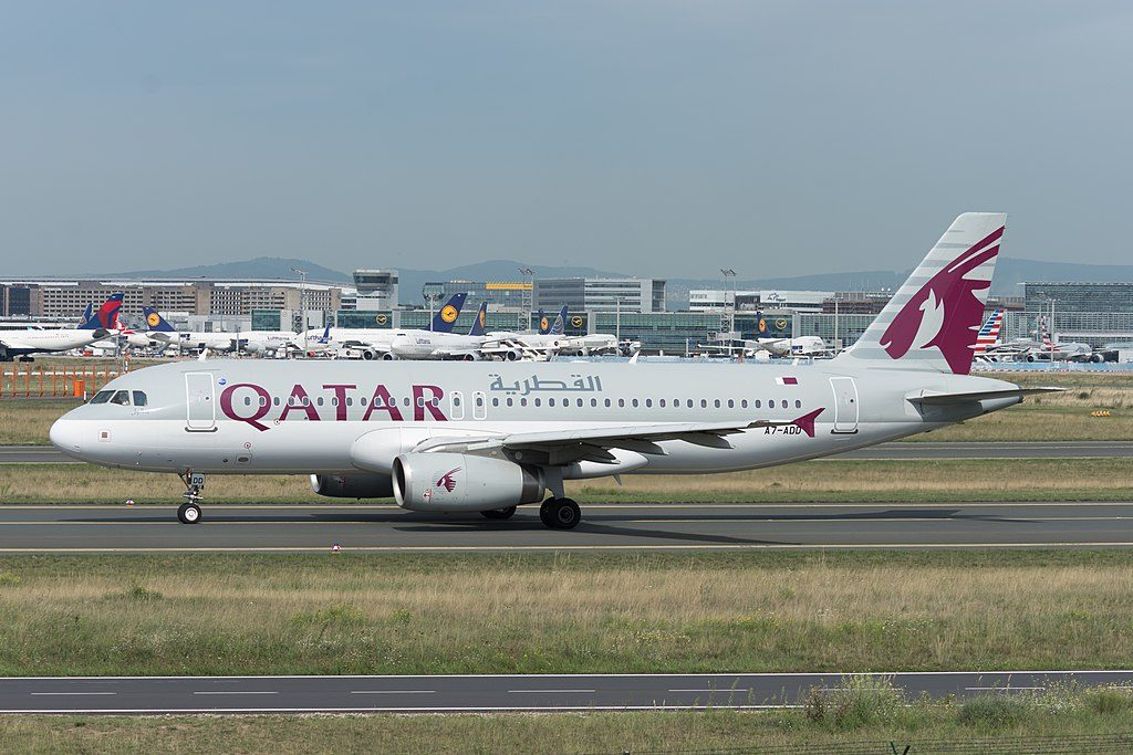 A7 ADD Airbus A320 200 of Qatar Airways at Frankfurt Airport